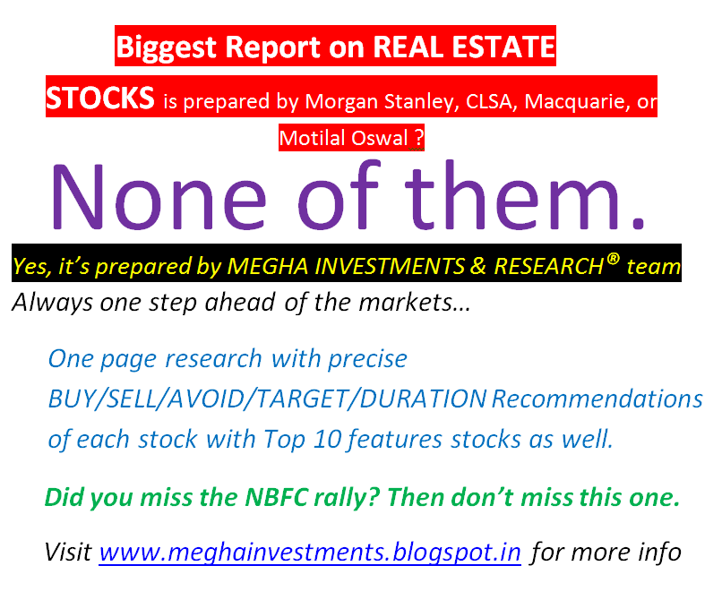 Best Report On All Real Estate Stocks One Page Report Technical And Fundamental Analysis Very Brief For 2017 2018 Short Mid Term Megha Capital S Blog