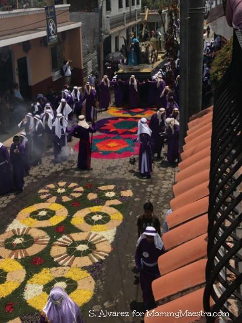 Guatemalan Alfombras during Semana Santa