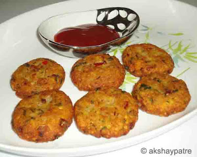 Moong dal aloo nuggets ready to serve