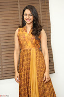 Rakul Preet Singh smiling Beautyin Brown Deep neck Sleeveless Gown at her interview 2.8.17 ~  Exclusive Celebrities Galleries 013.JPG