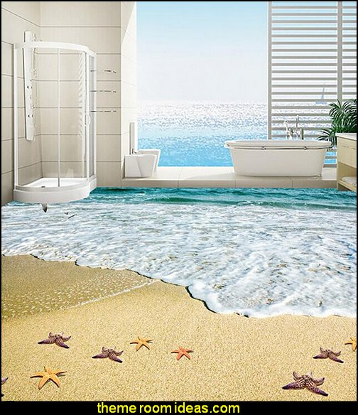 bathroom floor wallpaper murals
