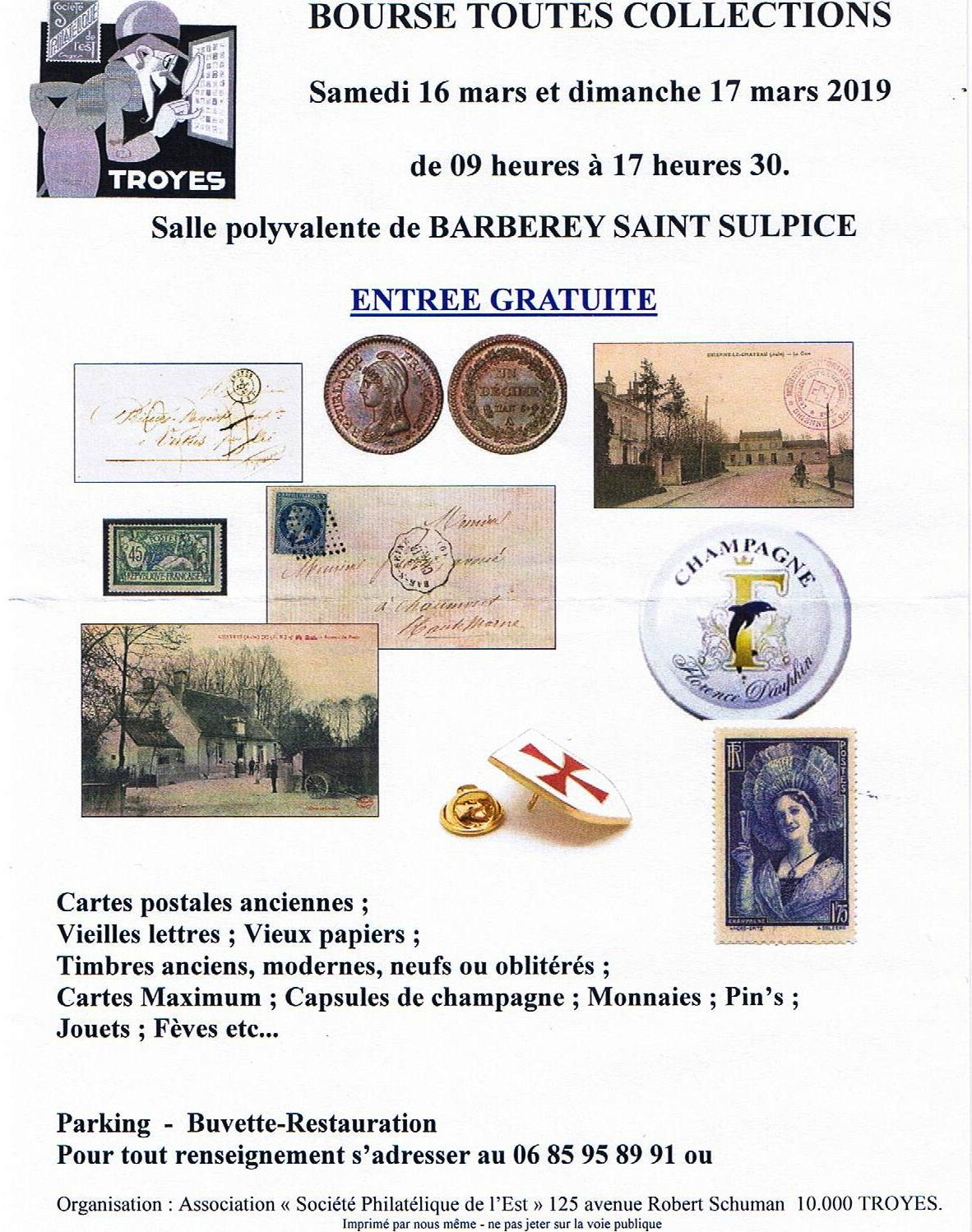 Bourse Collections 17 mars 2019