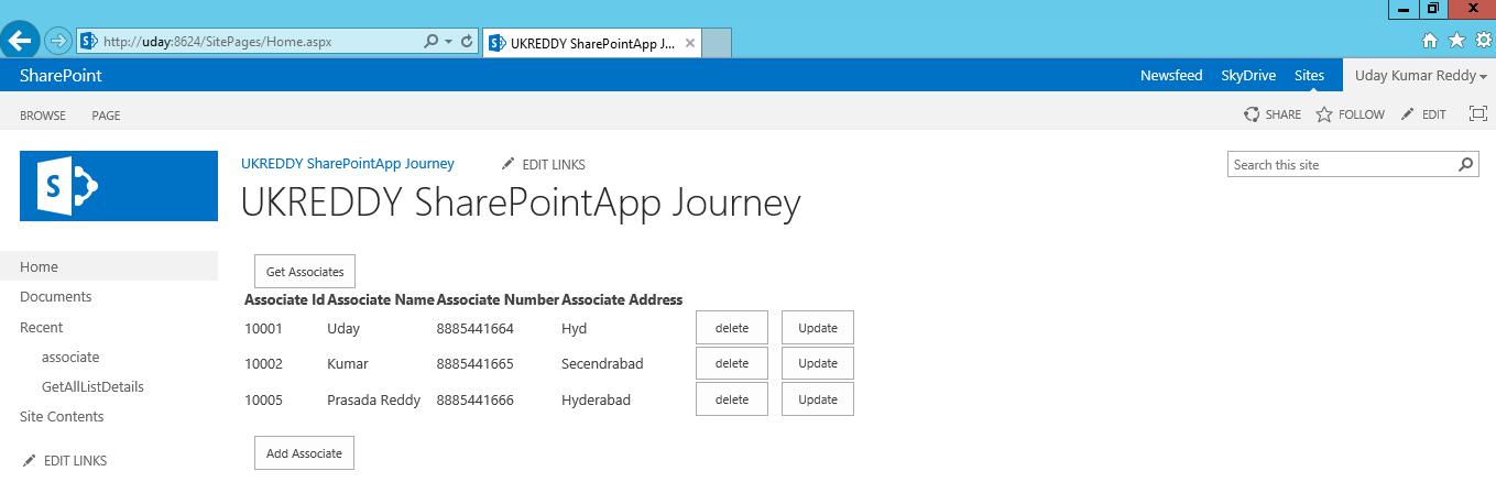 UKReddy SharePoint Journey: Basic list CRUD operations using