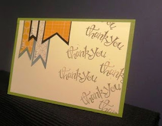 Let's start at the very beginning thank you card Zena Kennedy Stampin Up independent demonstrator