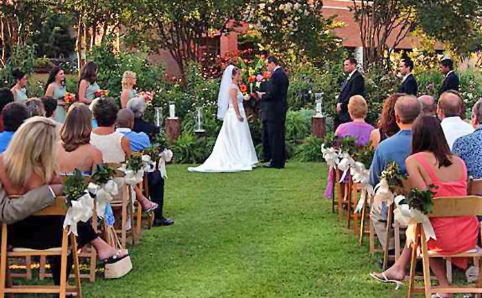 Rose Garden Botanical Gardens Wedding Venue And Reception At Atlanta