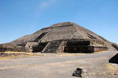 The Pyramid of the Sun in Teotihuacan