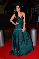 Raashi Khanna in Dark Green Sleeveless Strapless Deep neck Gown at 64th Jio Filmfare Awards South ~  Exclusive 034.JPG