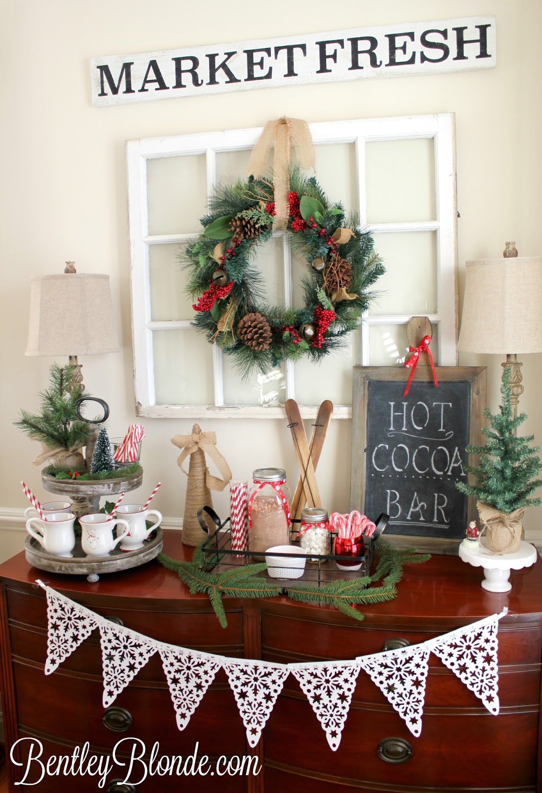 Bentleyblonde holiday brunch ideas christmas table hot - How to decorate a bar ...