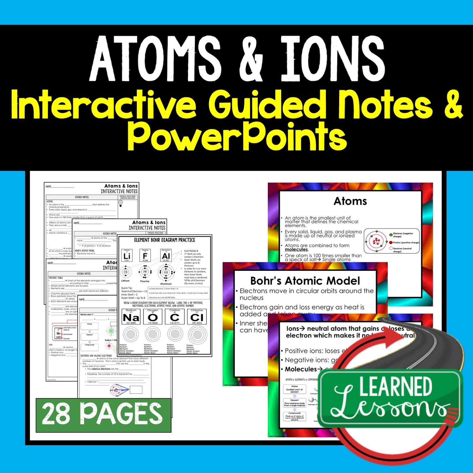 Physical Science Interactive Guided Notes and PowerPoints