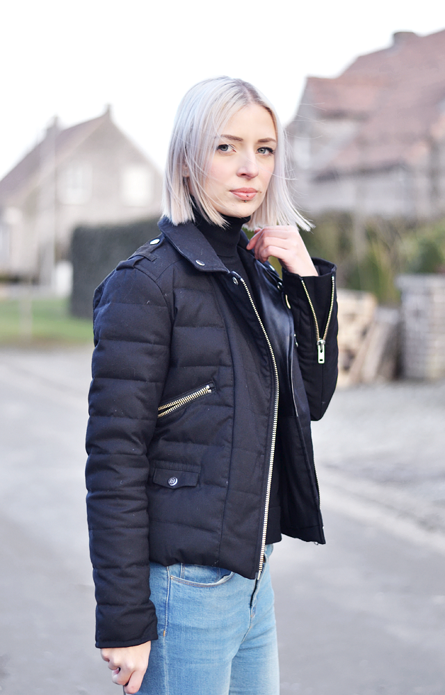 The kooples jacket, Turtle neck, mango, skinny jeans, close up, nikon D3100