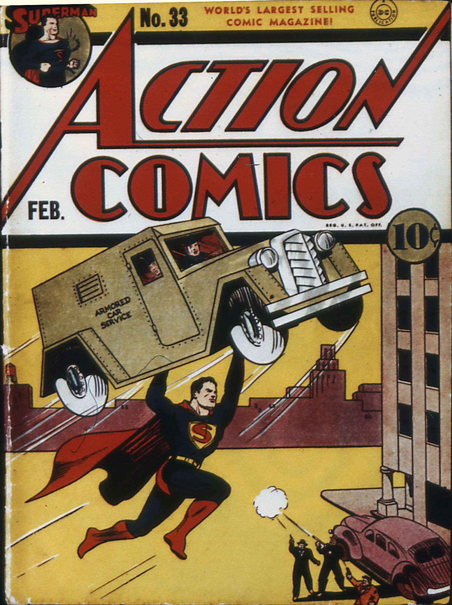 Read online Action Comics (1938) comic -  Issue #33 - 1