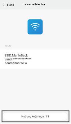 Scan barcode wifi pada xiaomi