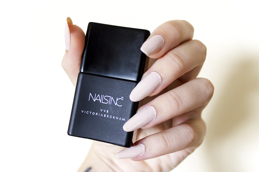 Nails of the month: Nails INC x VVB Victoria Beckham Bamboo White swatches and review