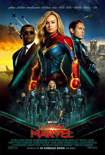 Captain Marvel 2019 Dual Audio ORG Hindi BluRay 480p 400MB ESubs