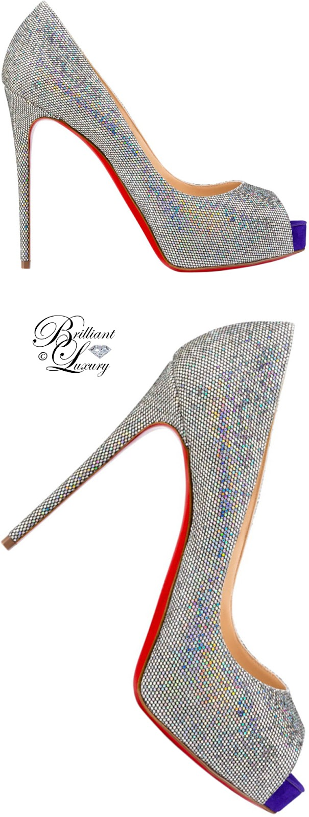 Brilliant Luxury ♦ Christian Louboutin New Very Prive Glitter Disco Ball Pumps
