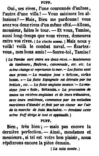 The Critic - Richard Brinsley Sheridan - translated by Amédée Pichot 1835