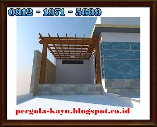 design pergola menawan untuk rooftop