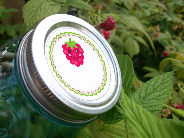 Happy Raspberry mason jar canning labels