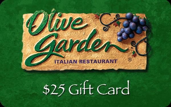Sasaki time giveaway 25 olive garden gift card for Olive garden gift card specials
