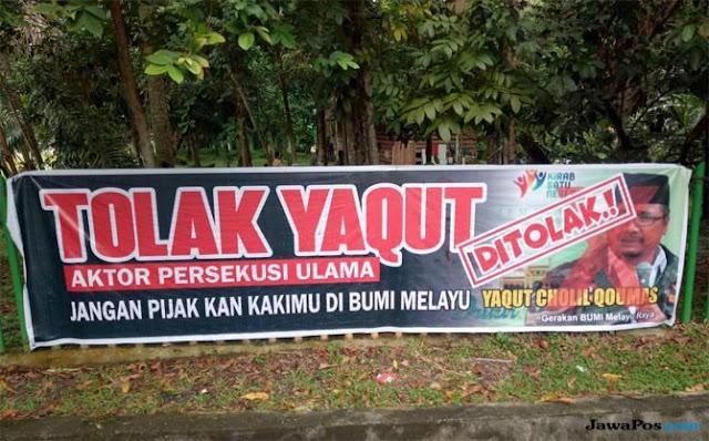 Pascadugaan Persekusi UAS, Yaqut Cholil Ditolak di Pekanbaru