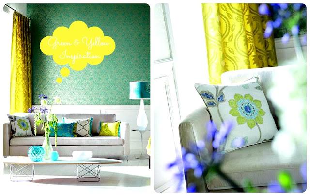 inspiracje żółty i zielony