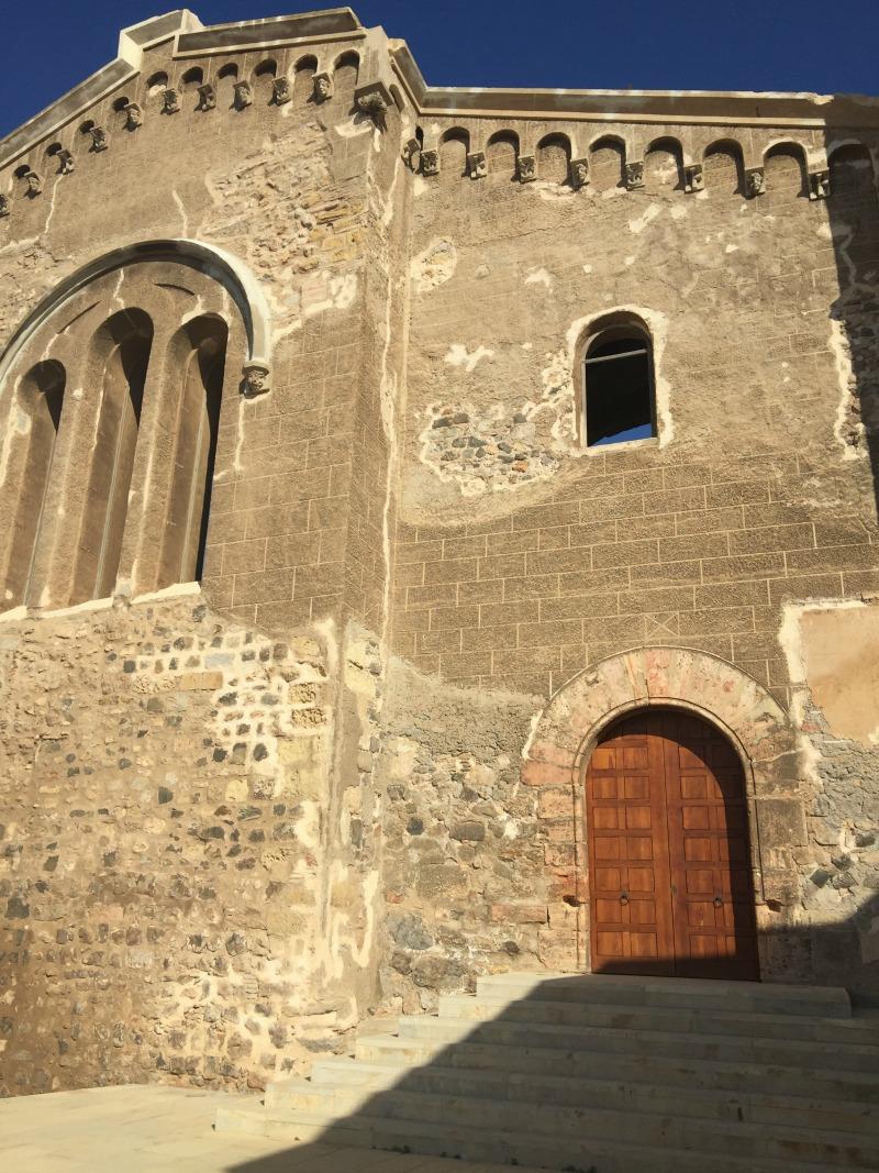 Doorway to the roman theatre museum Cartagena