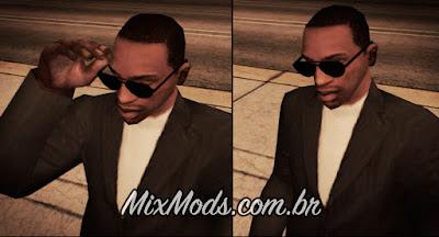 mod cleo colocar e tirar óculos por comando e animação