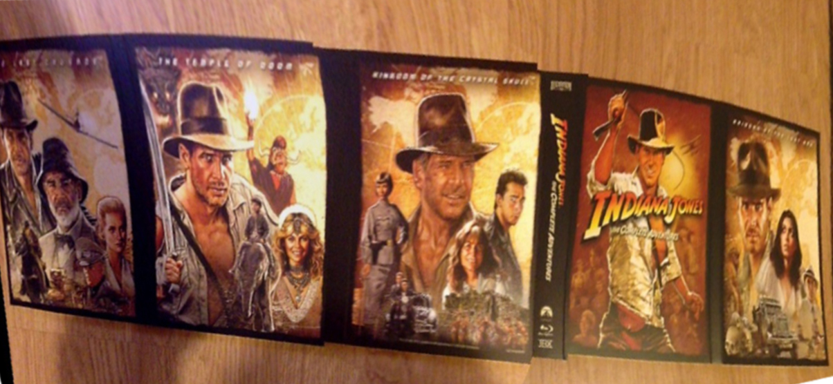 artwork, blu-ray, indiana jones