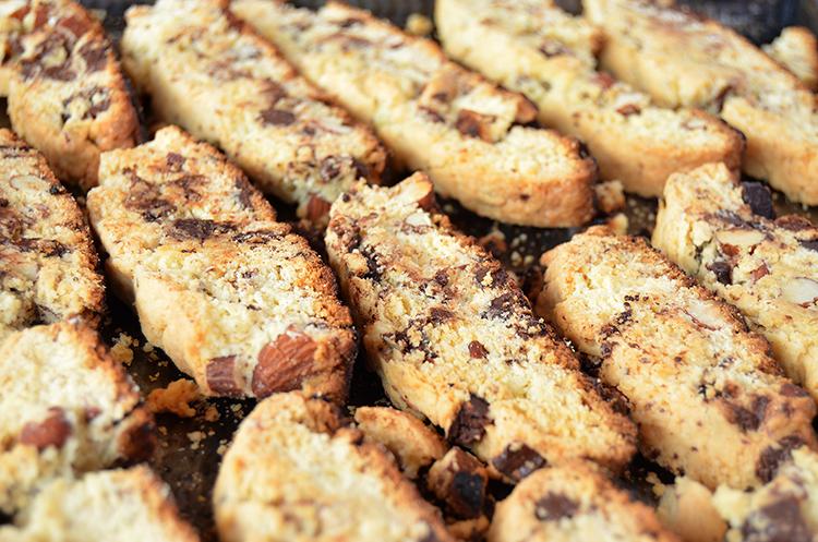Biscotti de almendras y chocolate
