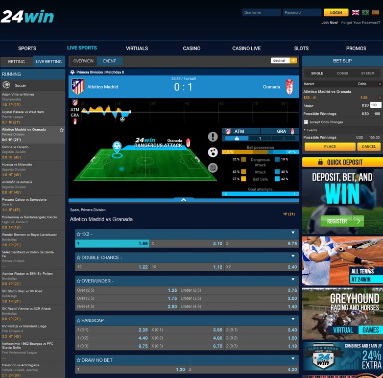 24win Live Betting Offers