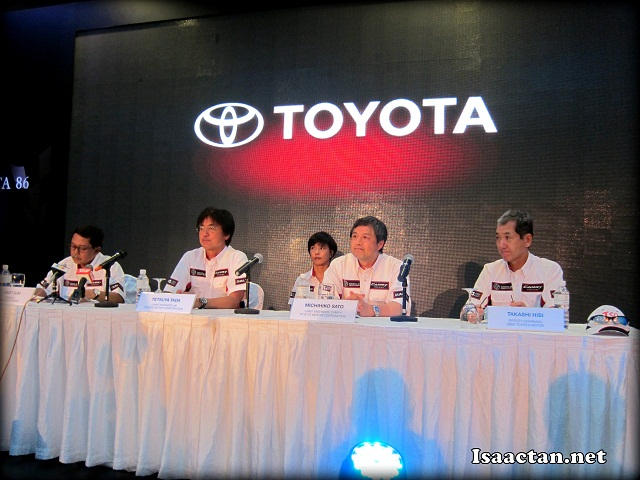 Toyota Representatives answering queries from the media