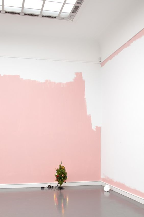 Red Colour Wall: Pink Accents In White Scandinavian Homes