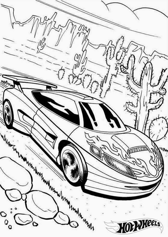 Hot Wheels Coloring Pages 23