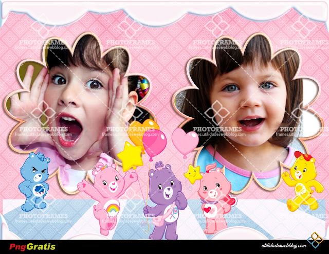 Free Two Photo Care Bears Frame