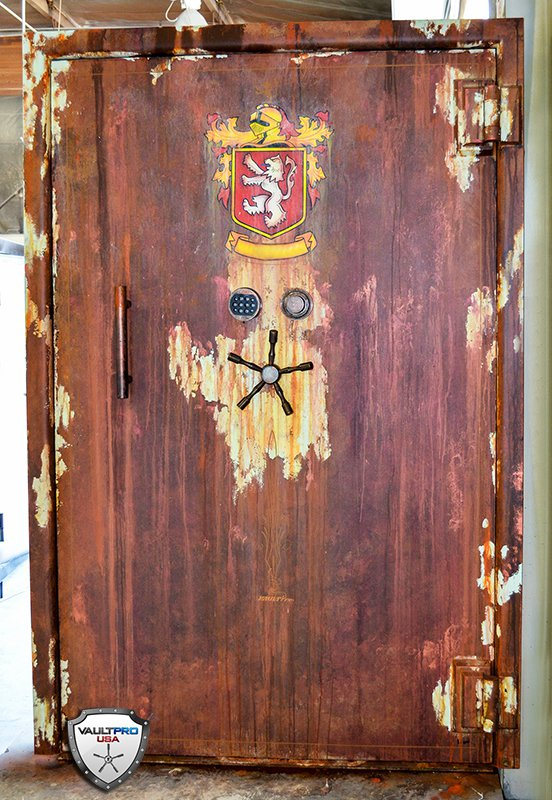 Antique Custom Finish for Vault Door - Safe And Vault Door Reviews And How To's: Custom Safes, Vault