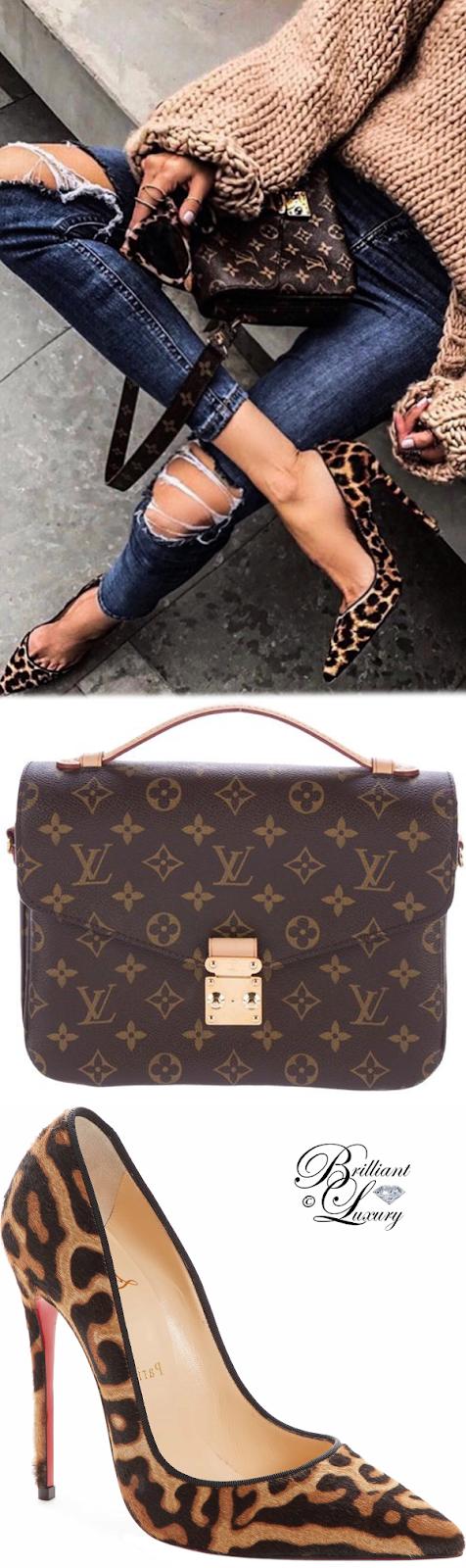 Brilliant Luxury ♦  Louis Vuitton Monogram Pochette-Métis and Christian Louboutin So Kate pumps #brown #leopard #streetstyle