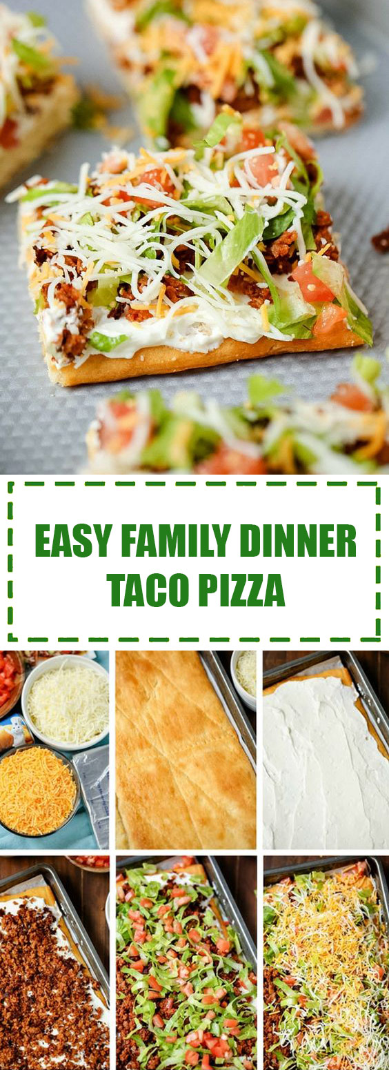 Family Dinner Taco Pizza