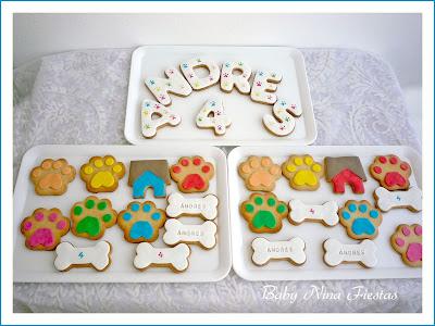 kit de cumpleaños patrulla canina niño galletas