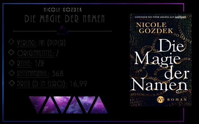 [Rezension] Die Magie der Namen - Nicole Gozdek