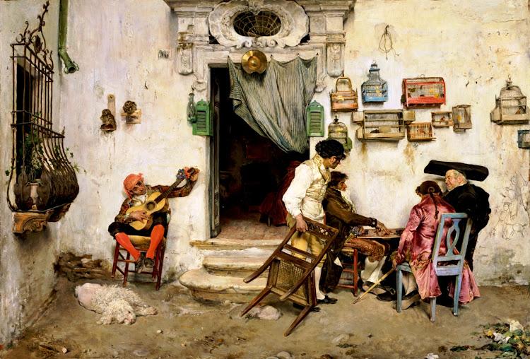 Jose Jimenez Aranda - Figaro's Shop (1875)