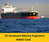 SCI Graduate Marine Engineers Admit Card