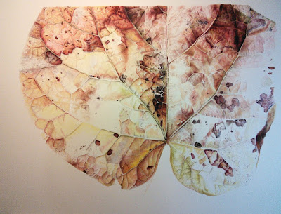 Botanical Art Autumnal Leaf