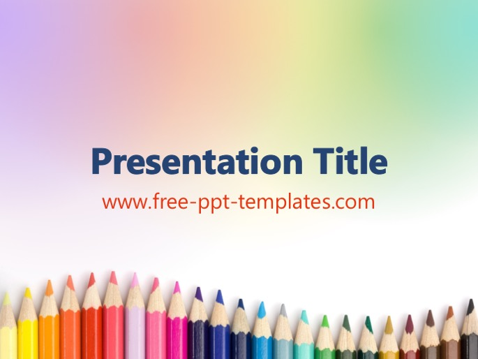 Crayons ppt template toneelgroepblik Image collections