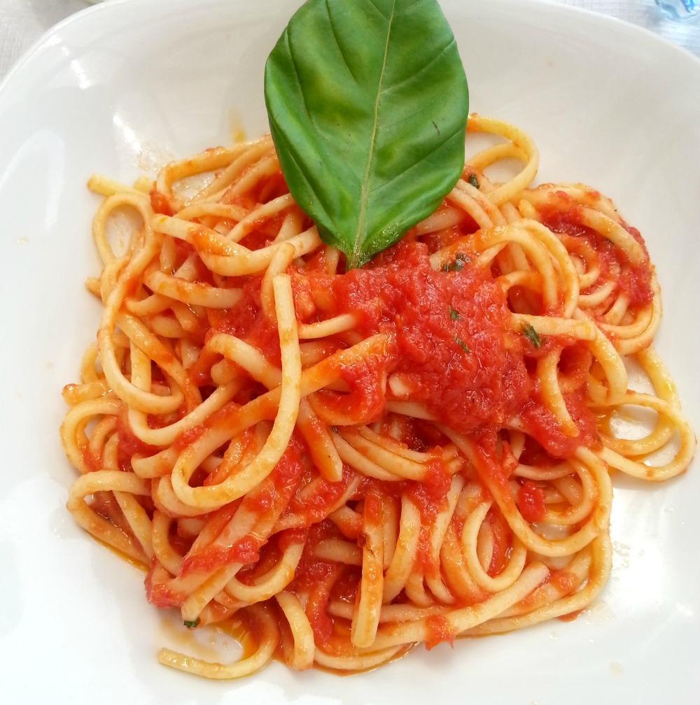 Spaghetti Pompeii Italy