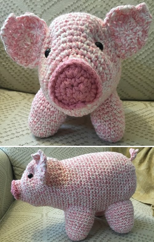 Ravelry: Pig Amigurumi CAL pattern by Brenna Eaves | 785x500