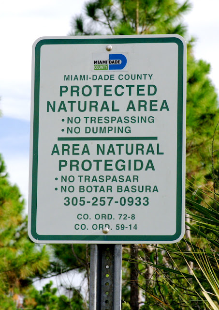 no trespassing sign at Navy Wells Pineland Preserve