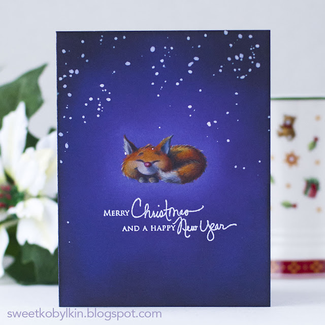Purple Ombre Holiday Card