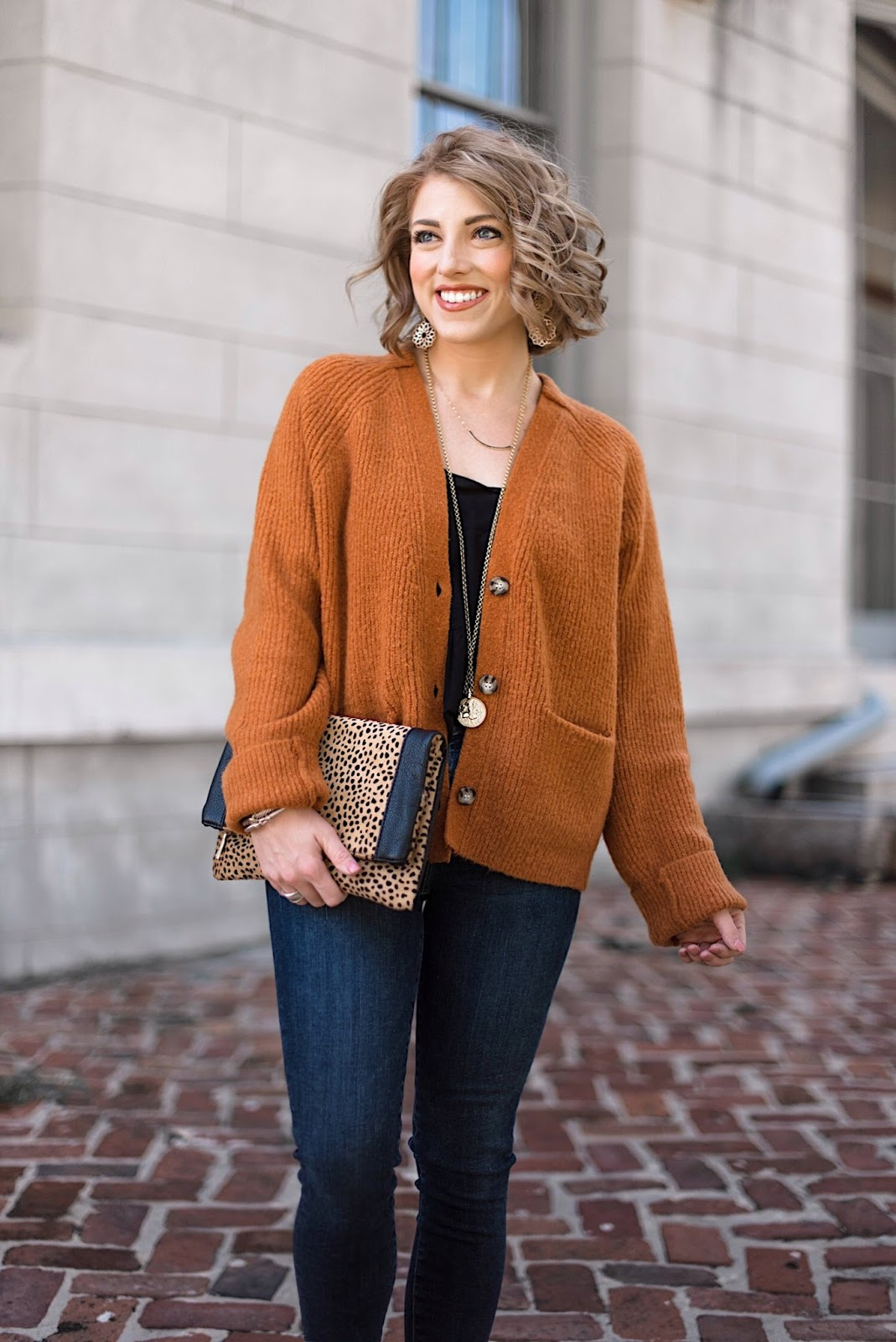 Burnt orange, black and leopard for fall - Something Delightful Blog
