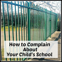 School railings with title overlaid