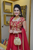 Jenny Honey in Stunning Dark Red Anarkali Dress at Splurge   Divalicious curtain raiser ~ Exclusive Celebrities Galleries 037.JPG